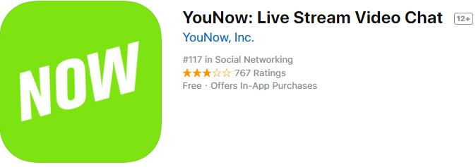 تطبيق يو ناو لدردشة الفيديو والاشهر في العالم YouNow للأيفون