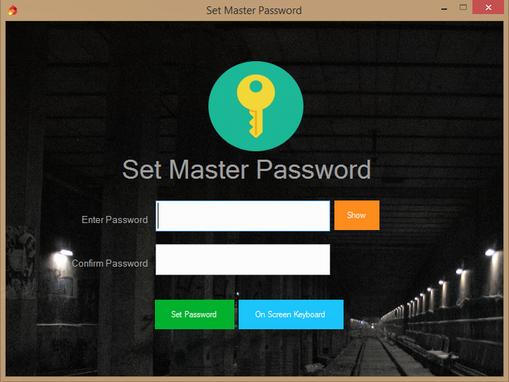 صورة توضح كيفية كتابة كلمة سر Folder Spark