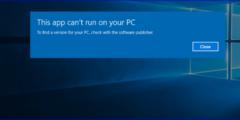 حل مشكلة هذا التطبيق غير متوافق مع جهازك ويندوز 10