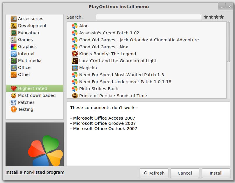 شرح تشغيل برامج ويندوز exe على لينكس