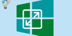 اصلاح مشكلة تغيير حجم النوافذ ويندوز 10